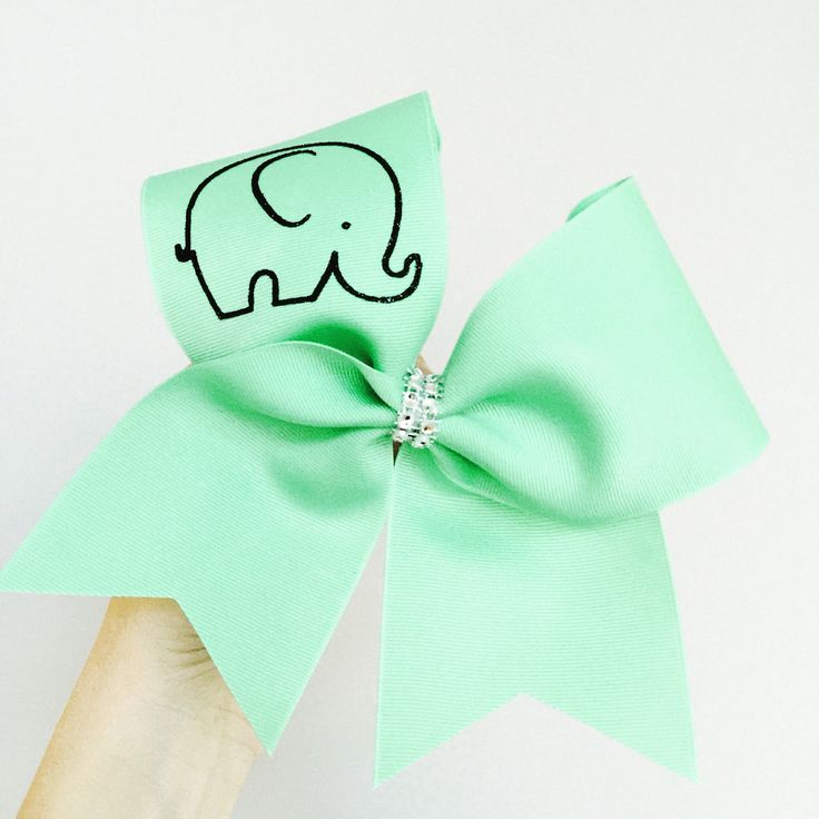 Baby Elephant Mint Cheer Bow
