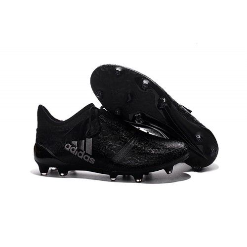 Adidas X 16  Purechaos FG AG All Black Silver trainers