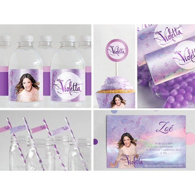 Kit violetta à personnaliser et a imprimer