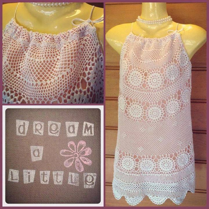 Handmade by dream a little. Ladies doily tablecloth top