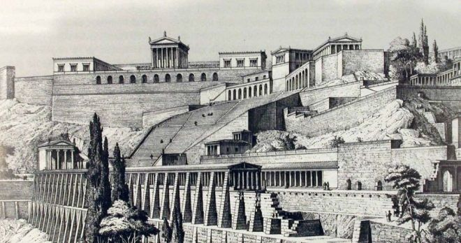 How the ancient city of Pergamon (Aegean coast of Turkey ) used to look. It is now a marvelous collection of ancient ruins and has been accepted to the UNESCO World heritage site list