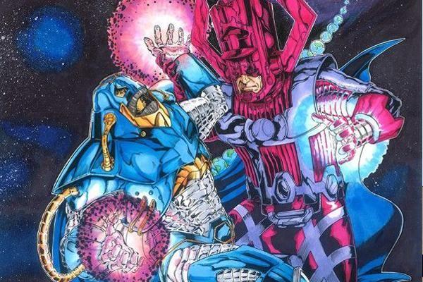 """Galactus y Anti-Monitor - <p>Ambos personajes son entidades galácticas y requieren consumir grandes cantidades de energía, obligándolos a devorar planetas y galaxias respectivamente. Galactus tuvo su origen en 1966 siendo un enemigo de los 4 fantásticos, mientras que el Anti-Monitor es enemigo de los Green Lantern Corps, y después de todo el multiverso, teniendo su origen en la mini-serie de """"Crisis de las Tierras Infinitas"""" en 1985.</p>"""