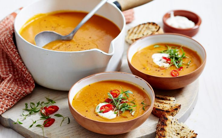 Packed full of healthy vegetables, filling red lentils and wonderful spices, this diabetic-friendly soup is the ultimate winter warmer. Serve it up with a dollop of yoghurt and toast for the perfect family dinner.