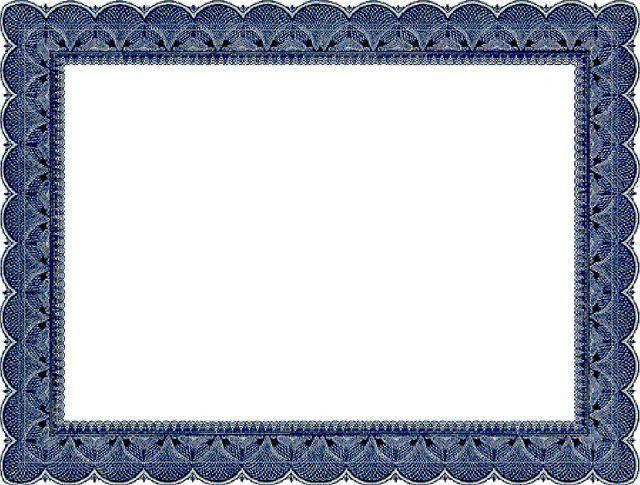 Award Certificate Border Clipart 55