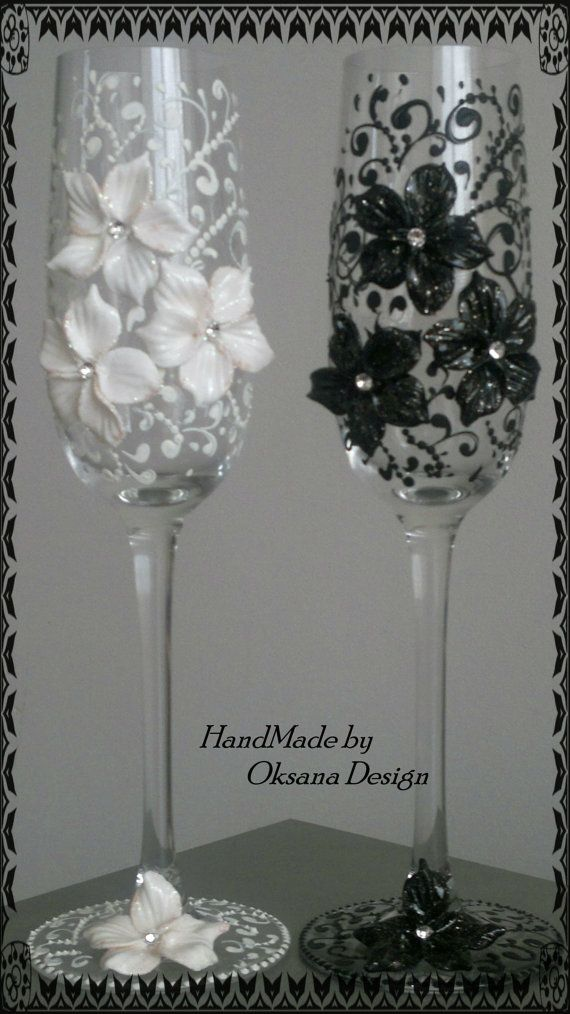 Wedding glasses Duet  by ToujourGlamour on Etsy, $65.00