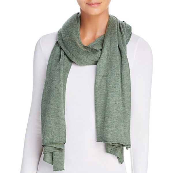Echo Seasonless Scarf ($62) ❤ liked on Polyvore featuring accessories, scarves, olive and echo scarves