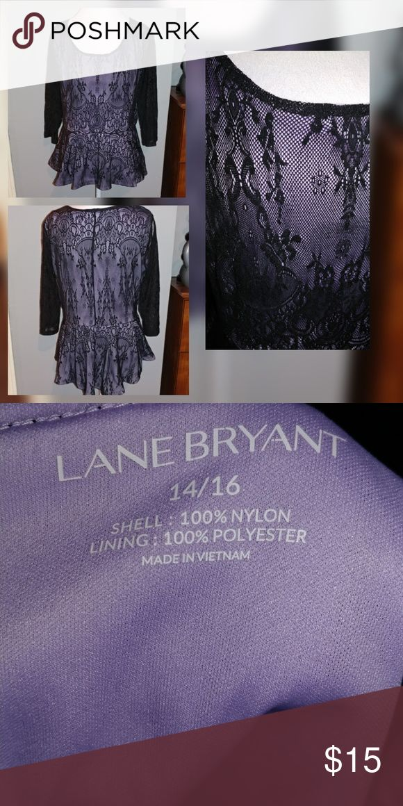 Lane Bryant lace peplum top Gorgeous lace top Tops