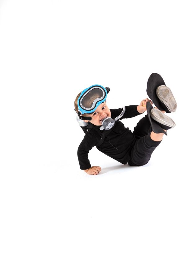 The cutest DIY Scuba Diver costume we ever did see.