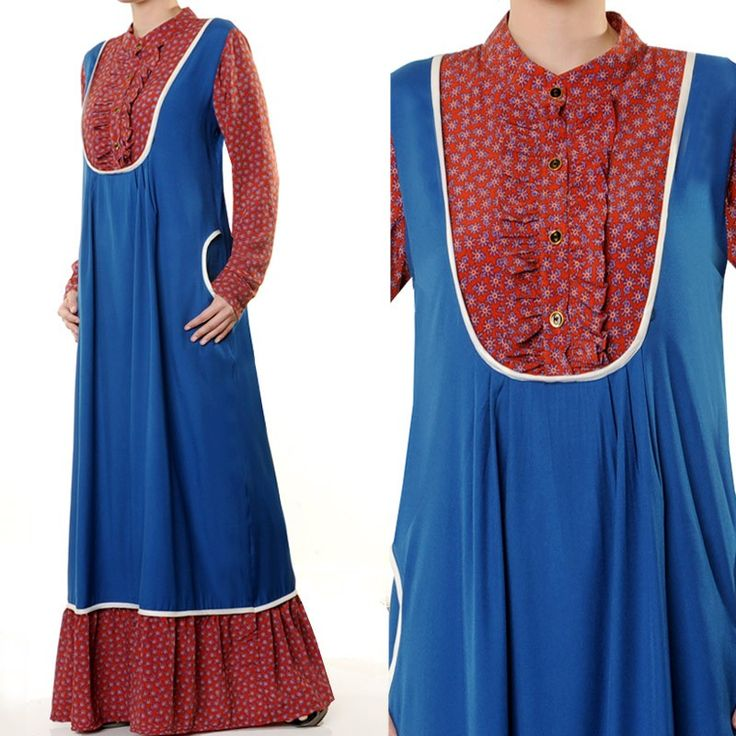 3854 Ruffle High Neck Jubah Abaya Dress - Standard Size S/M US$28 FREE SHIPPING WORLDWIDE  Buy It Here --> http://shop.pe/YE0ue