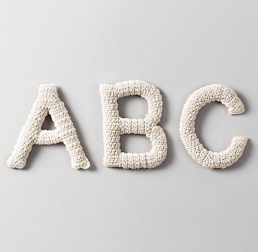 Crocheted Letters Just DIY It!!! Pinterest