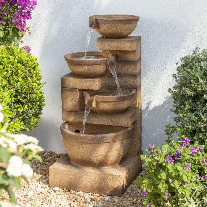 86cm Kaskadenbrunnen Kendal Mit Led Beleuchtung Ambiente 224 99 Wasserspiel Garten Led Beleuchtung Brunnen Garten