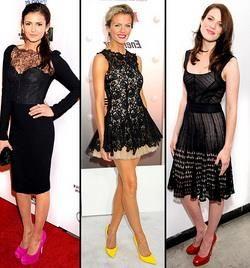 С каким цветом обуви носить черное платье