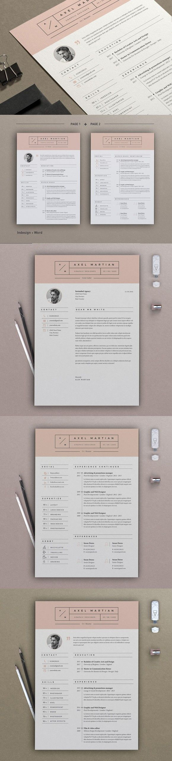 Resume Axel 2 pages 52 best Resume