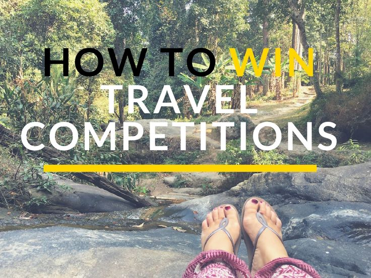 Travel comps gave me the start I needed. If I hadn't have won them, my blog never would've grown like it has. Here's how to win those travel competitions!