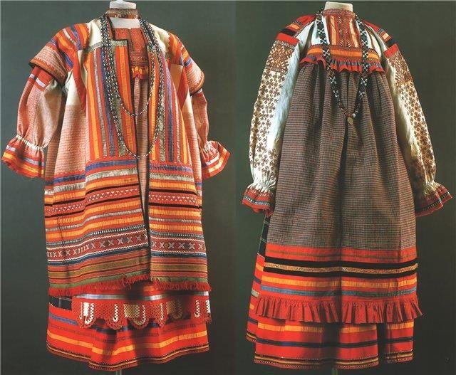 Русский народный костюм женский понева