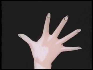 Sailor moon transformation, one thing I never understood was what was the point of painting her nails....if she was just gonna put gloves over them?