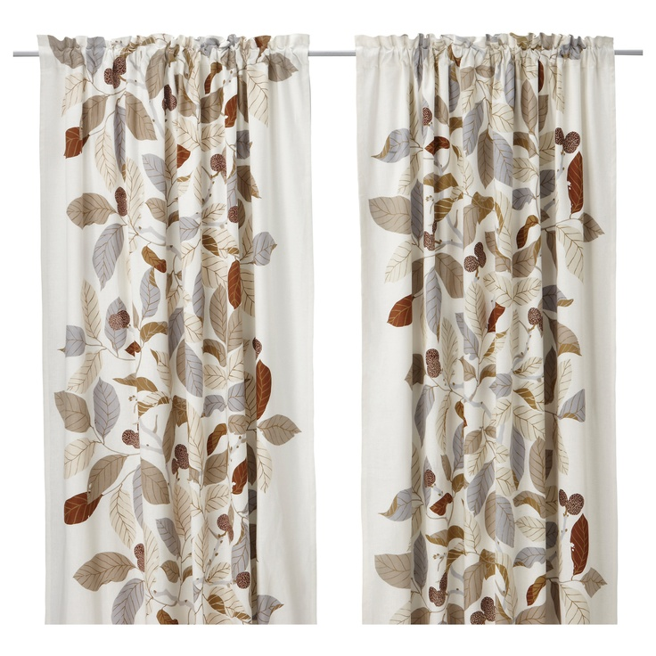 Curtains From Ikea To Match With Brown Paint Living Room
