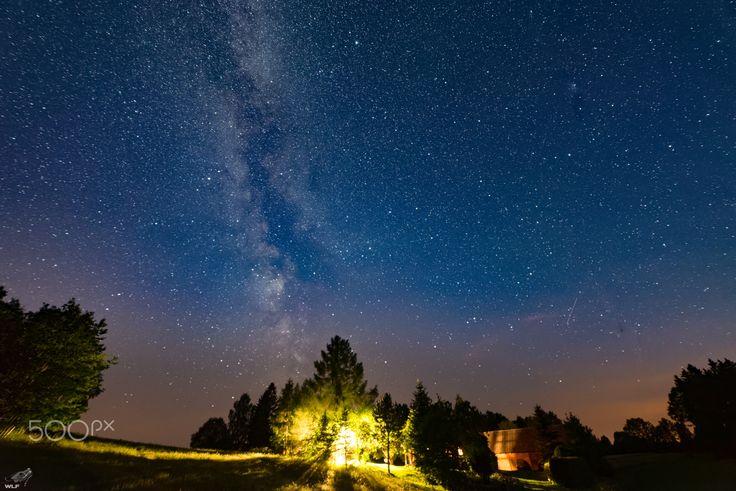 Milky way - Milky way over holiday home in Czostków