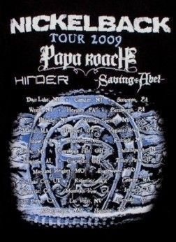 Nickelback/Papa Roach/Hinder/Saving Abel - 8/14/2009 - Blossom Music Center, Cleveland, Oh.