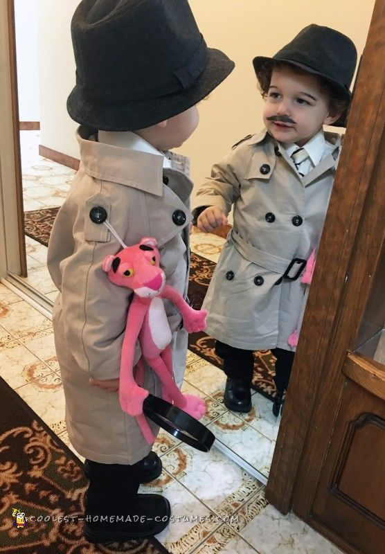 Cool Inspector Jacques Clouseau Costume from The Pink Panther  sc 1 st  Pinterest & 540 best Halloween Costumes for Kids images on Pinterest | Diy ...