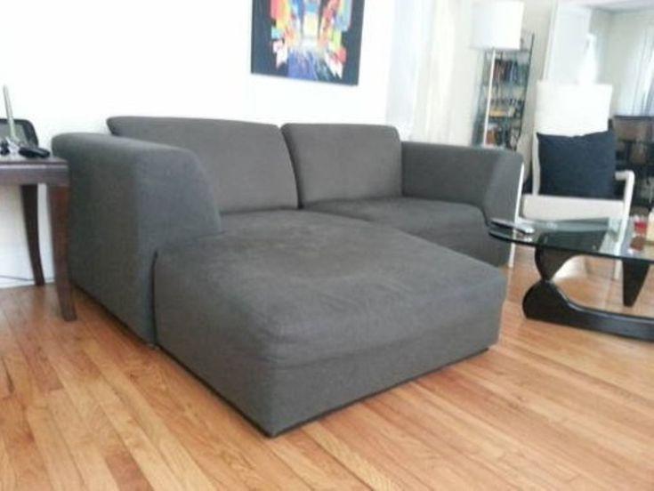 Grey Small Sectional Sleeper Sofa