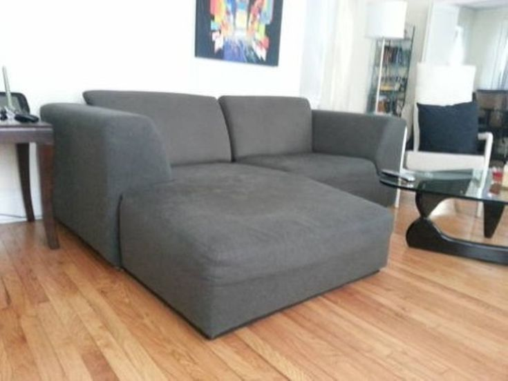 Grey Small Sectional Sleeper Sofa  apartment living  Pinterest