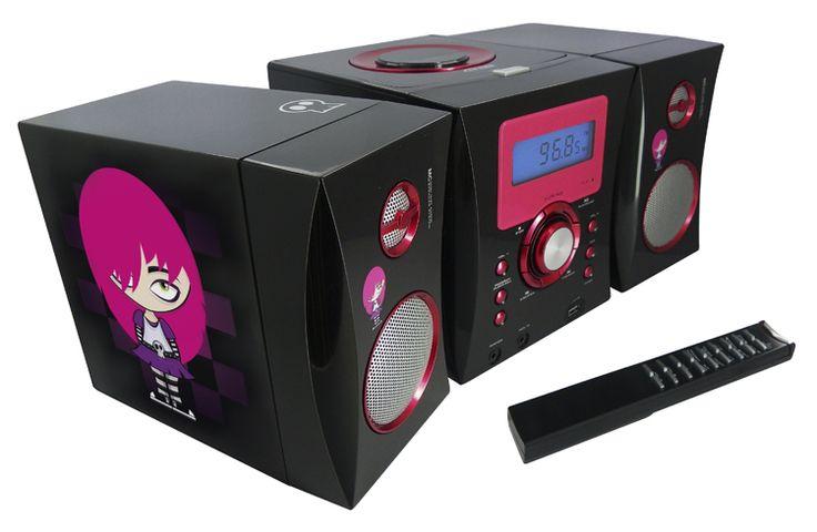 Micro Hi-Fi Radio / CD/ MP3 / USB (Motivo EMO) - Da Bigben Interactive. Ulteriori informazioni qui: http://www.bigbeninteractive.it/produit/produit/id/7293