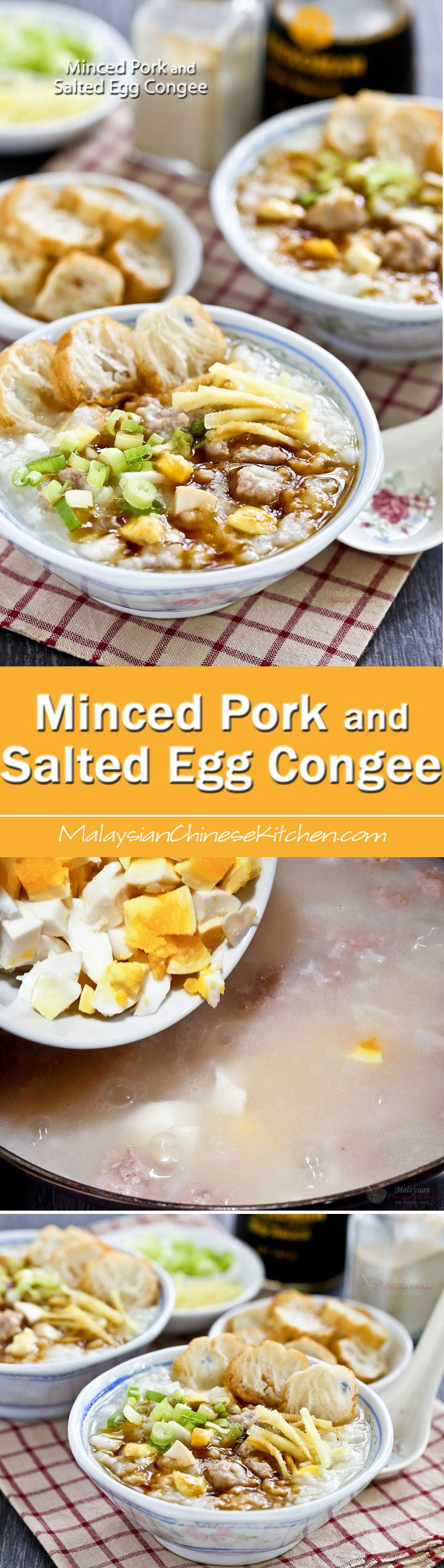 95 best malaysian chinese kitchen images on pinterest asian food this easy to prepare minced pork and salted egg congee is comfort food for the soul forumfinder Choice Image