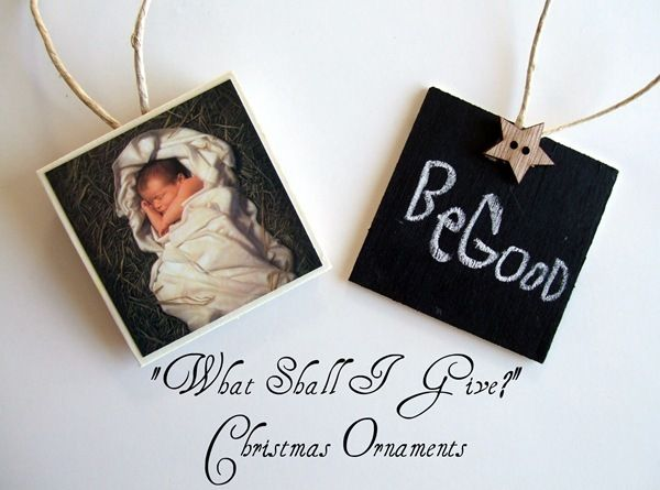 A great tradition!: Ornaments Tutorials, Christmas Crafts, Center Christmas, Gifts Ideas, Chalkboards Paintings, Homemade Ornaments, Diy Ornaments, Diy Christmas Ornaments, Christmas Gifts