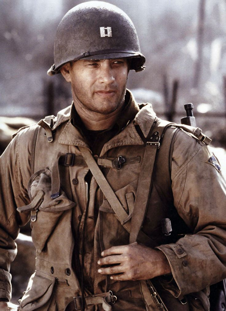 Tom Hanks in Saving Private Ryan (1998) by Steven Spielberg.