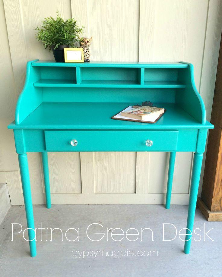 Patina Green Desk