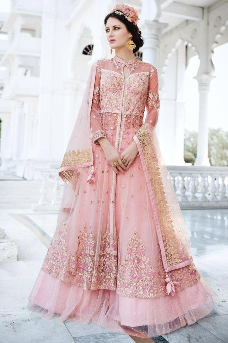 9703a4ea3 Banglori Silk And Net Embroidered Party Wear Sharara Top Lehenga In ...
