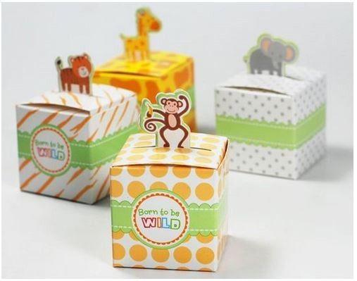 Utroligt søde #gaveæsker med fine små #jungledyr - perfekte lige fra #barnedåb og #babyshower til fødselsdagsfester.