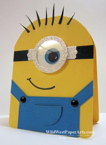 Tarjeta de cumpleaños divertida para fiesta temática Minions