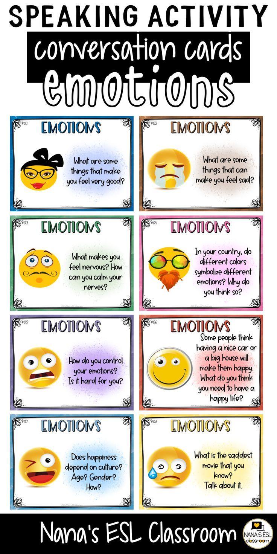 conversation starter cards  emotions  speaking skills