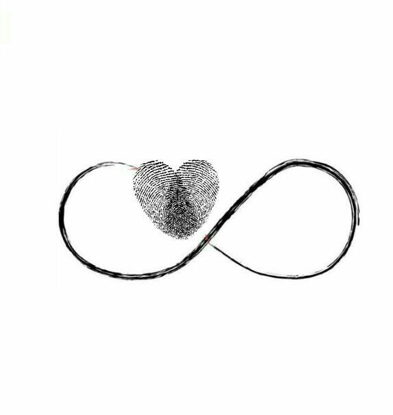 I like this idea - not necessarily with thumbprints - but maybe with the infinity sign and 3 hearts to represent the 3 men in my life