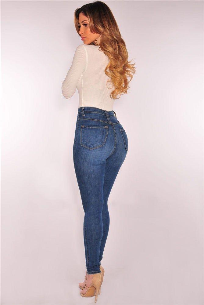 411378073f Jeans Levanta Cola Pantalones