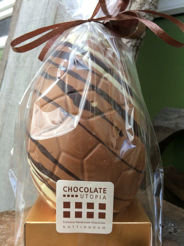 Just received this fab huge egg! Very Handy for  #chocolate  via @_sculptor