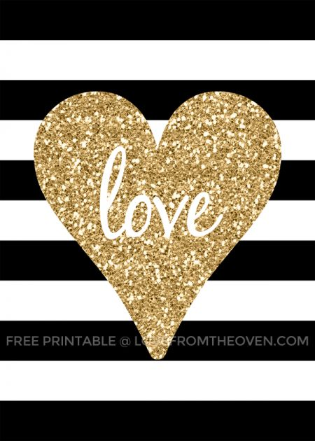 Free Printable Valentine's Day Sign at Love From The Oven