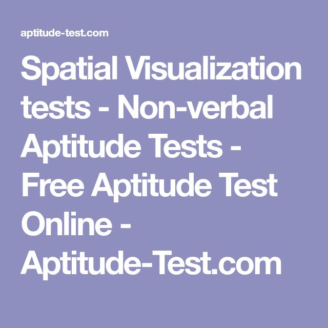 Spatial Visualization tests - Non-verbal Aptitude Tests - Free