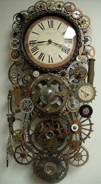 steampunk clock old clock tower pinterest steampunk gears and a tattoo. Black Bedroom Furniture Sets. Home Design Ideas