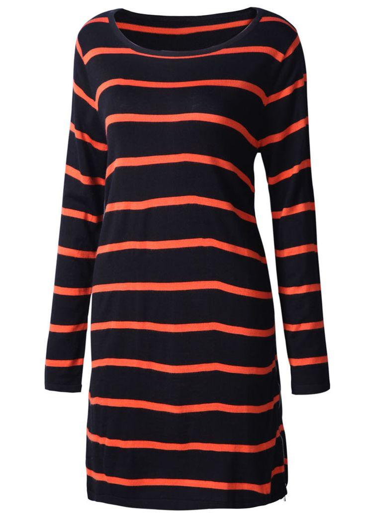 striped sweater dress. | My Style | Pinterest