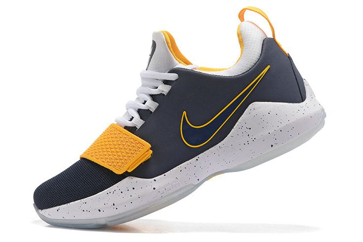 Free Shipping Only 69$ Nike PG Paul George 1 Pacers Colorways Navy Yellow
