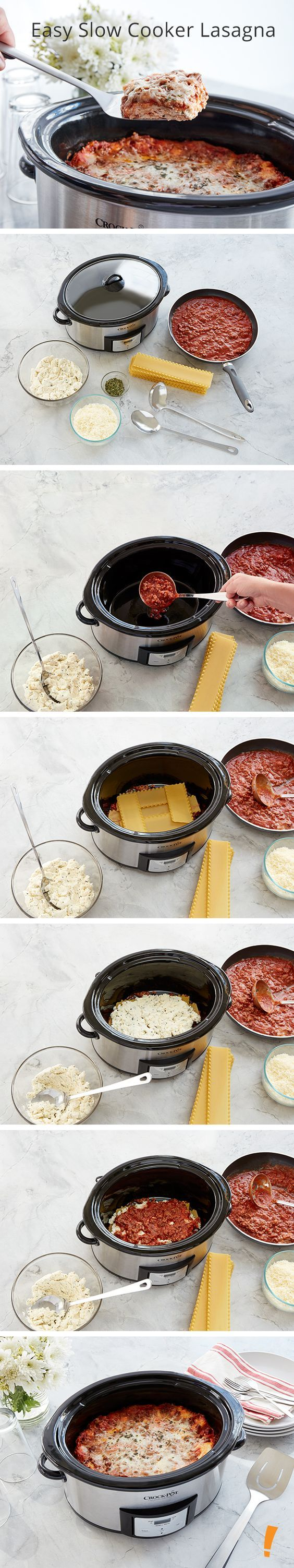 If you like lasagna, then you'll love this slow cooker option!