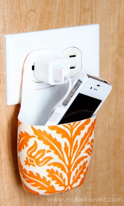 Cell phone charging holder