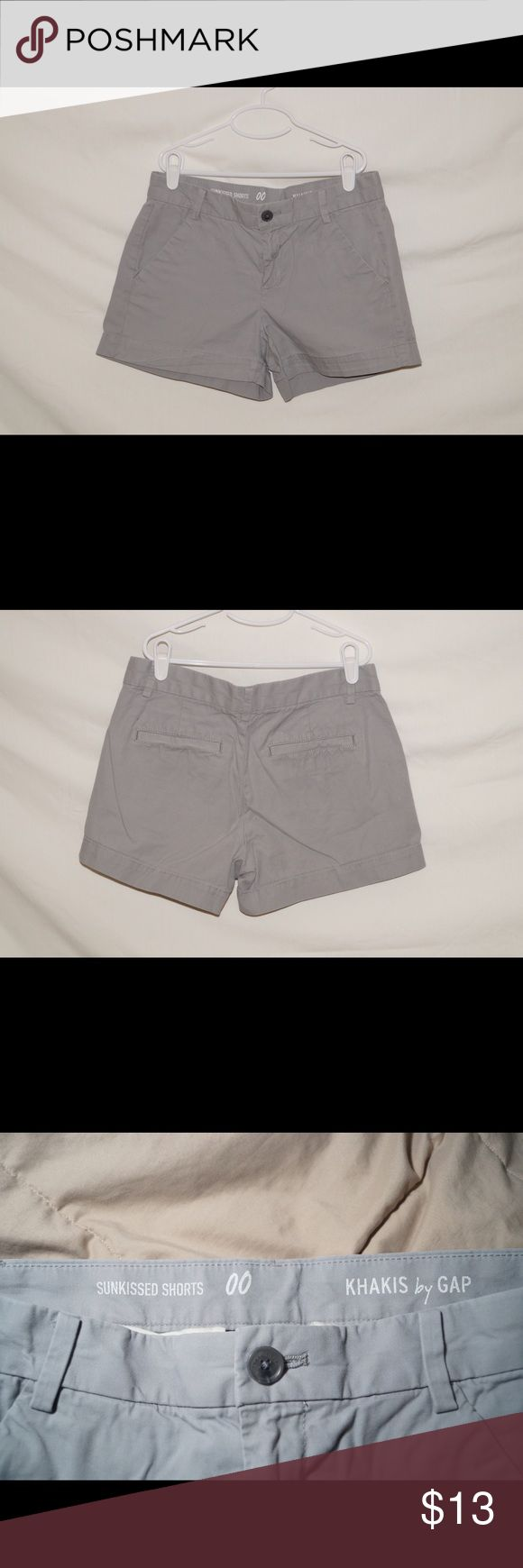 "GAP Women's Grey Khaki ""Sunkissed Shorts"" Gap grey khaki shorts, Women's size 00. Great condition. Feel free to ask any questions and I will do my best to answer!👍 GAP Shorts"