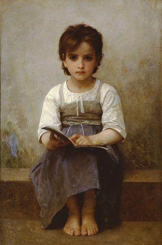all day - precious serious beauty determination suspicion dear girl - Bouguereau