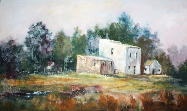 House in the Woods.  102 x 62cm.  Oil on board