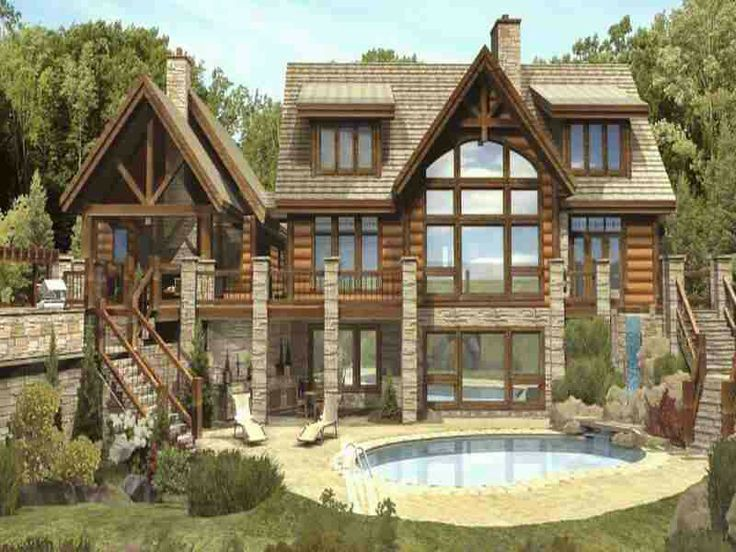 39 best HomesTimber Stone and Handcrafted images – Stone House Designs And Floor Plans