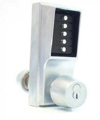 Unican Digital Lock Knob (with Key Override) Satin Chrome - access control - digital locks - UNICAN Digital Lock Knob (with Key Override) Satin Chrome - Timber, Tool and Hardware Merchants established in 1933